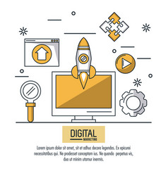 digital marketing and advertising infographic vector image