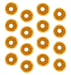 donut pattern vector image