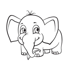 Elephant with banana vector