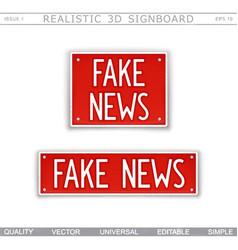 Fake news design elements vector