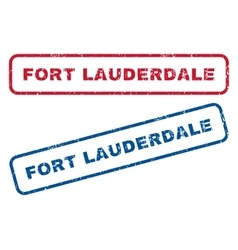 Fort Lauderdale Rubber Stamps vector