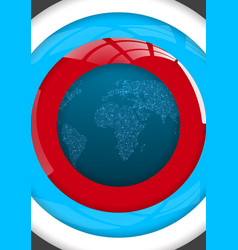 Global map world map glowing atlas looking vector