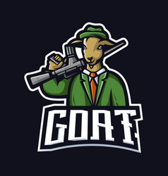 goat gaming logo vector image