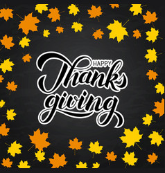 Happy thanksgiving written with brush on vector
