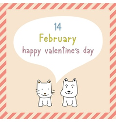 Happy valentine s day card9 vector image