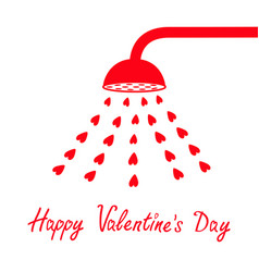 Happy valentines day sign symbol red shower bath vector