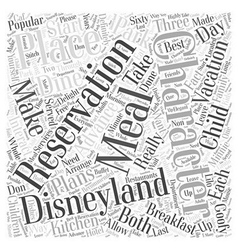 How to dine with disneyland characters Word Cloud vector
