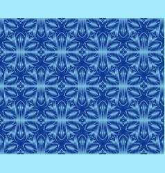 Indigo dyed ikat seamless pattern bohemian vector