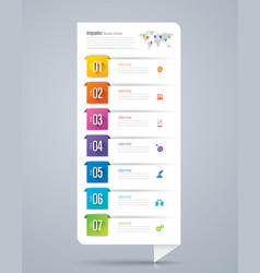 infographics design with 7 options vector image