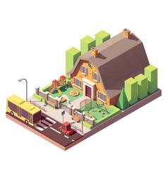 isometric kindergarten vector image