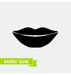 Lips icon 4 vector