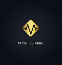m initial square company logo vector image