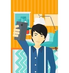 Man making selfie vector image