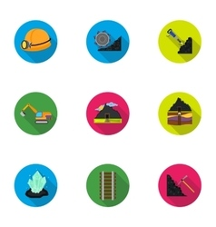 Mine set icons in flat style big collection of vector