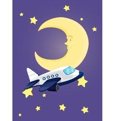 Moon at night vector image