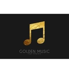 music note golden note logo design vector image
