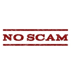 No Scam Watermark Stamp vector