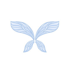Pair of fragile fairy wings with gorgeous ornament vector