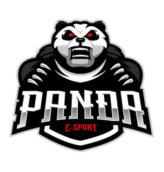 Panda esport logo vector