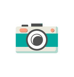 photo camera of green color vector image