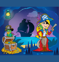 pirate cove theme image 9 vector image