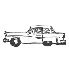 retro car side view vector image