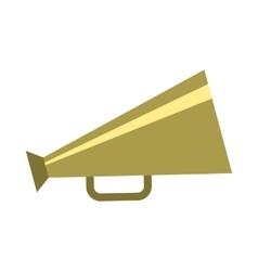 Retro metallic megaphone icon flat style vector image
