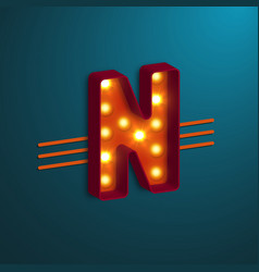 retro style letter n vector image