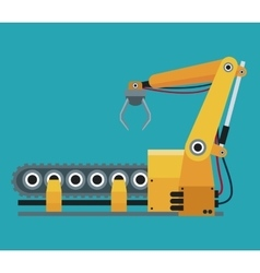robotic production line manufacturing vector image