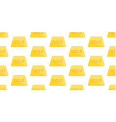 seamless pattern with golden bars vector image