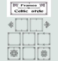 Set of frames in celtic style vector
