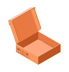 shoe carton box icon isometric style vector image