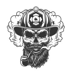 Skull in smoke cloud vector