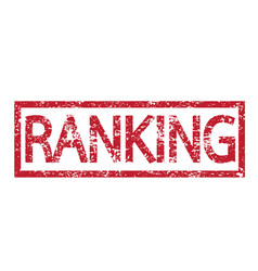 stamp text ranking vector image