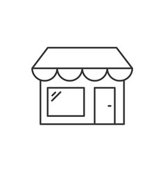 store outline icon on white background editable vector image