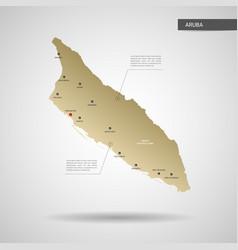 Stylized aruba map vector