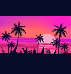 Summer holiday season tropical exotic beach vector
