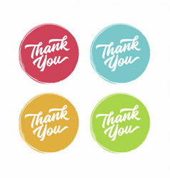 thank you abstract flat style badges vector image