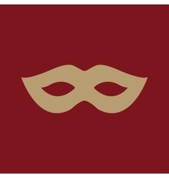 The festive mask icon vector
