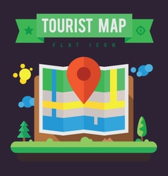 Tourist map vector image