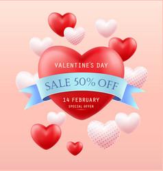 valentines day sale banner flyer poster vector image