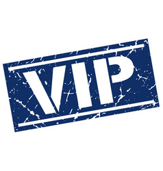 Vip square grunge stamp vector