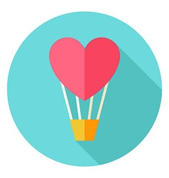 Air Balloon with Heart Circle Icon vector image vector image