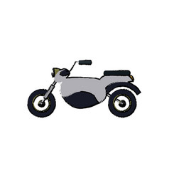 motorcycle speed vehicle transport icon vector image