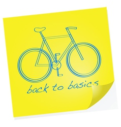 Back to basics vector image vector image