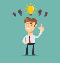 Business person having an bright idea vector