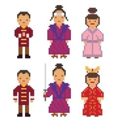 East Asia - Japan South Korea China Mongolia Man vector image vector image