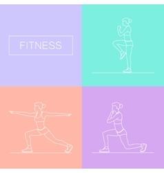 Female exercising silhouette vector image