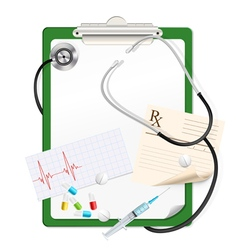 green clipboard vector image vector image