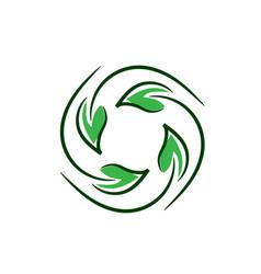 natural circle symbol vector image vector image